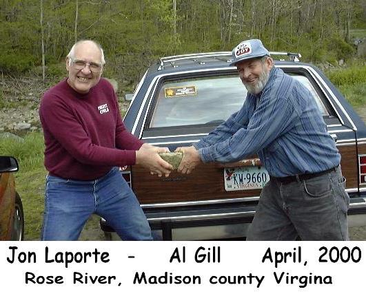 Jon & Al on unakite field trip, April 2000